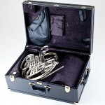 ultra compact wood shell case with solid brass hardware